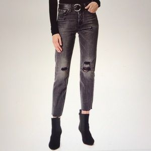 Levi's Wedgie Selvedge High Rise Raw Hem Jeans